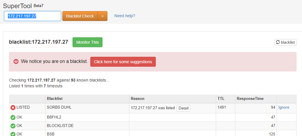 My gmail (gsuit) detect as spam, domain is clear from blacklist - G