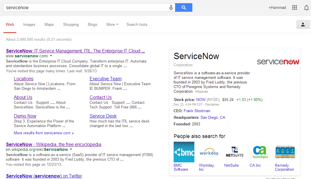 Updating ServiceNow Headquarter - G Suite Admin Help