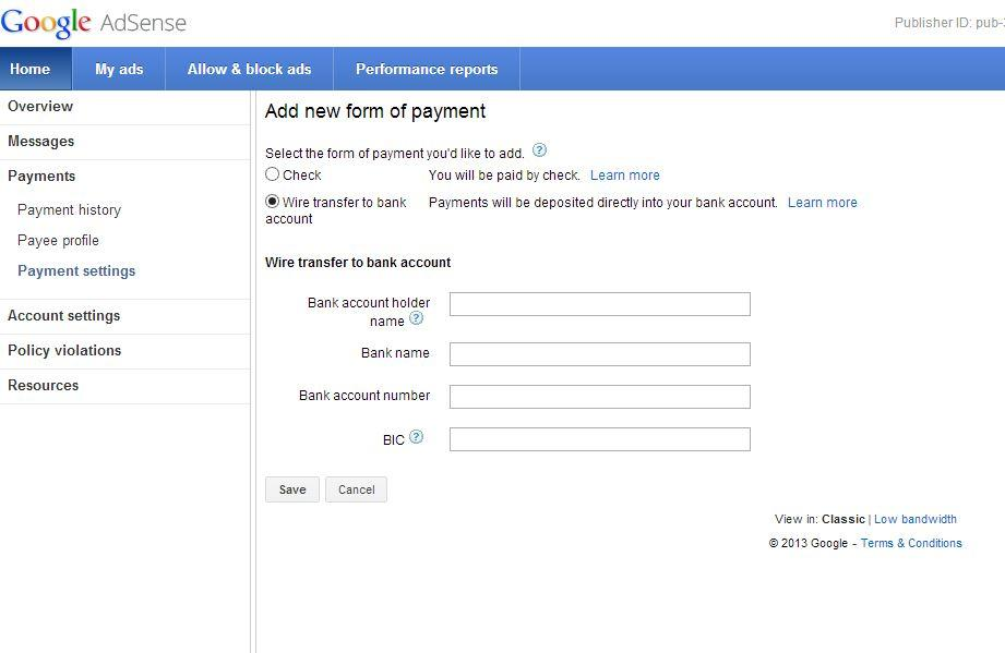 Wire Transfer Now Available For Pakistan Based Adsense Accounts