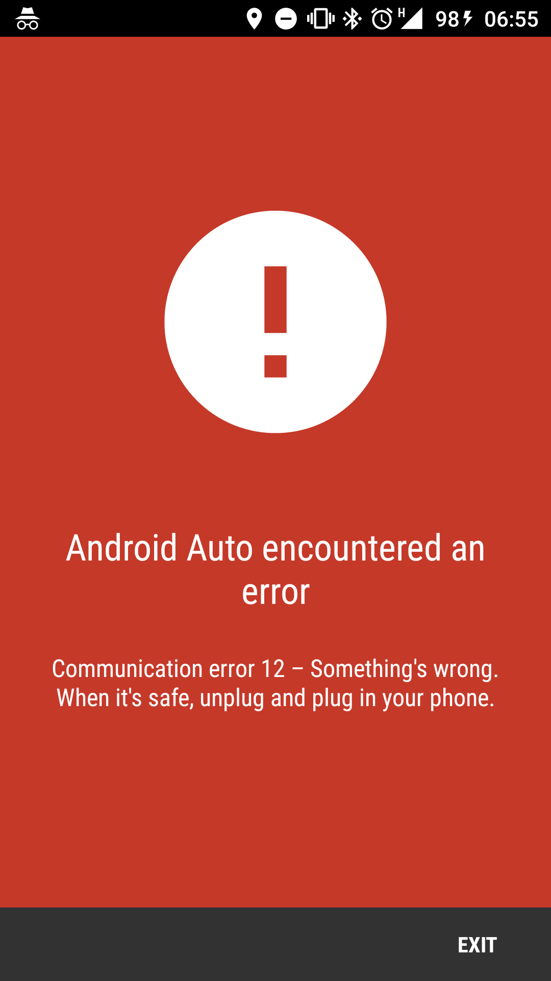 Communication error 12 - Android Auto crashes - Android Auto Help