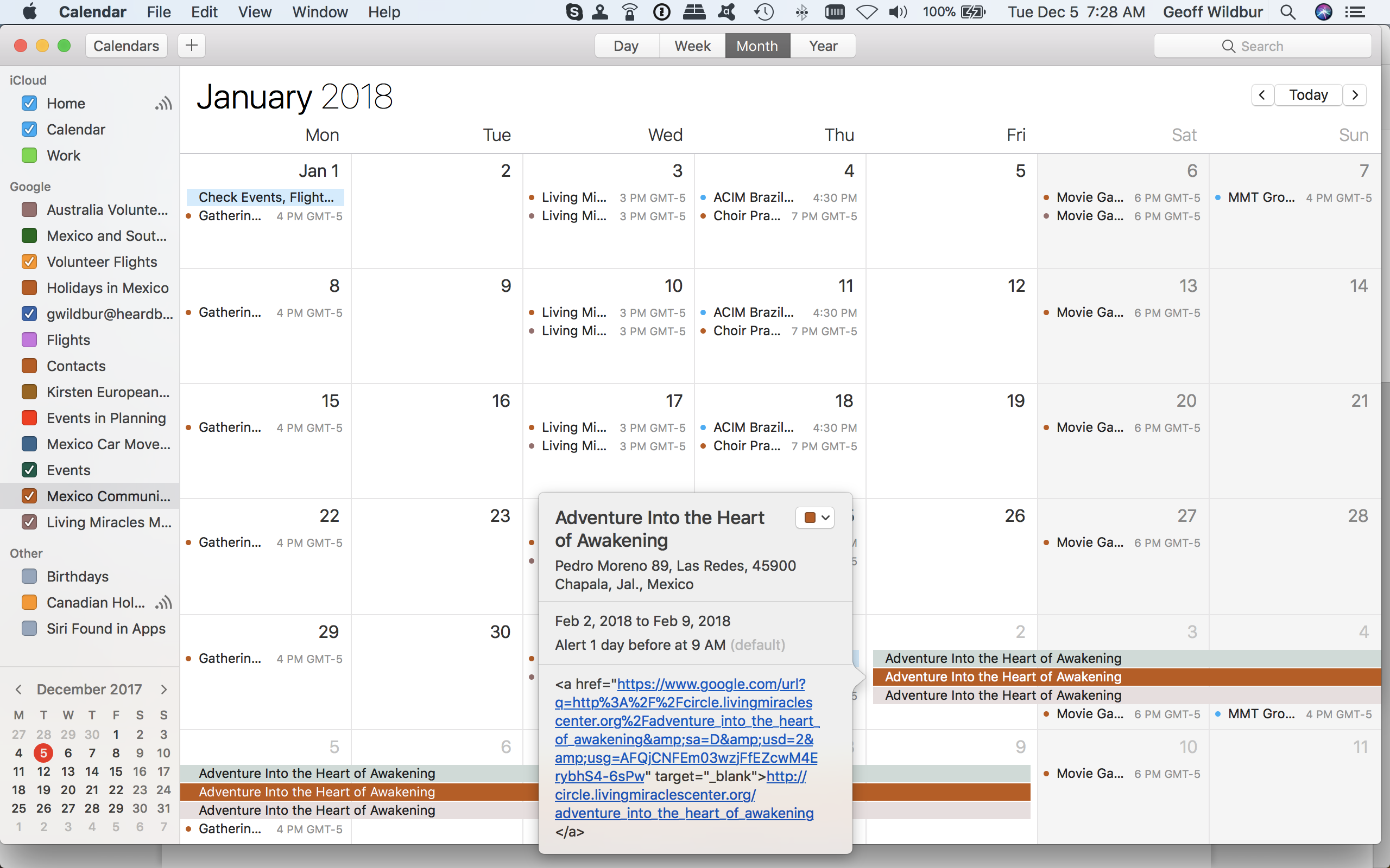 Some events are showing up as html in my Mac Calendar   Calendar Help
