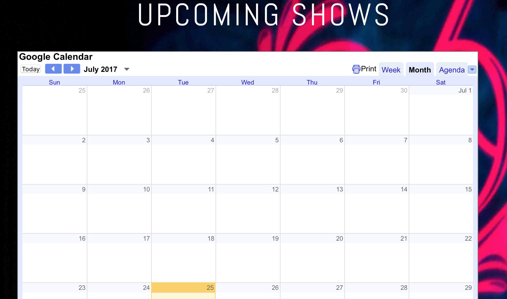 Google calendar in Squarespace - Calendar Help