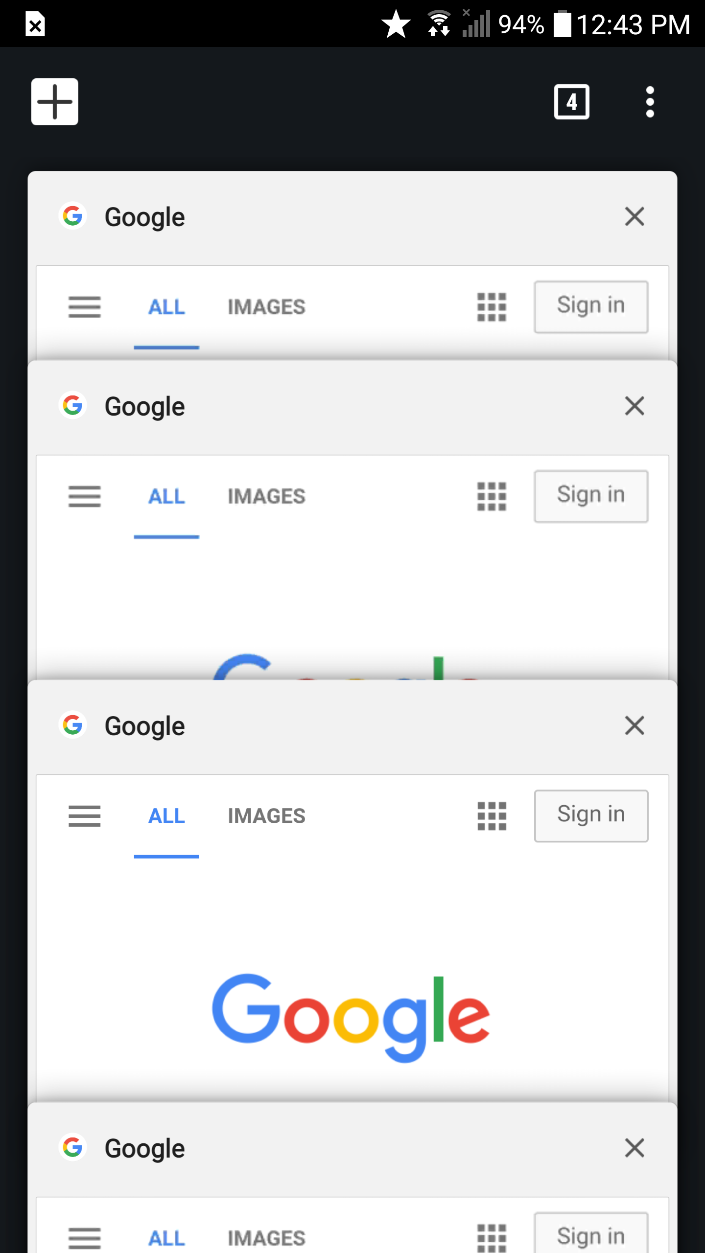 Why is the status bar white in the new version of Chrome for
