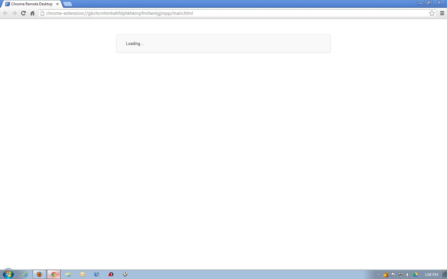 Chrome Remote Desktop not working as usual - Google Chrome Help
