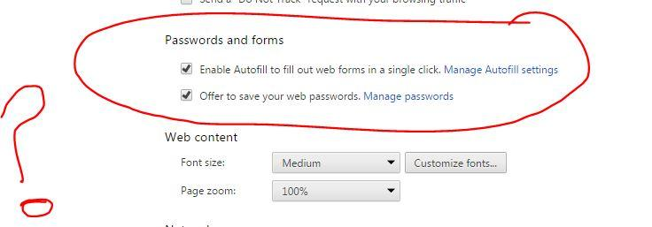 How to override browser security setting autofill=off? - Google