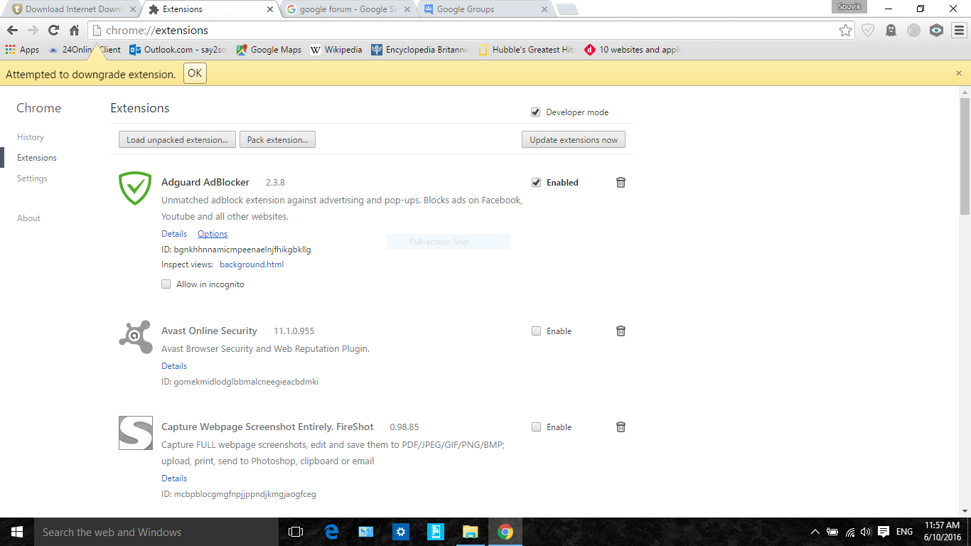 IDM integration module can't be installed - Google Chrome Help