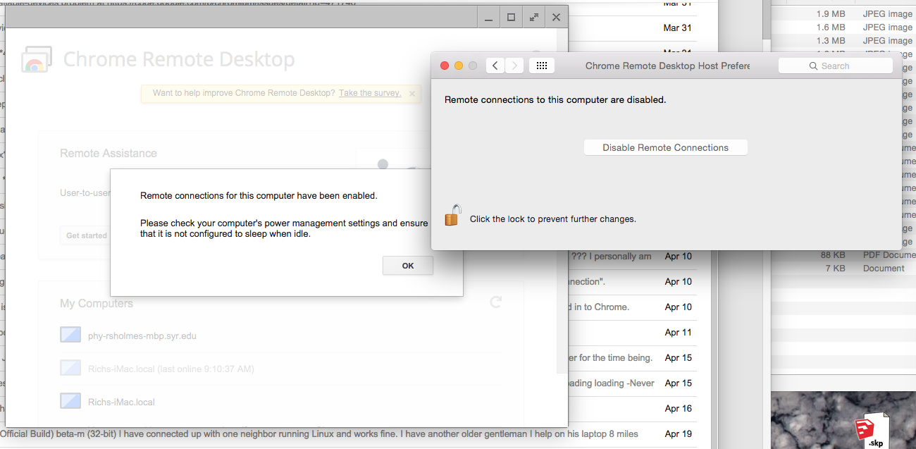 Cannot enable remote desktop - Google Chrome Súgó