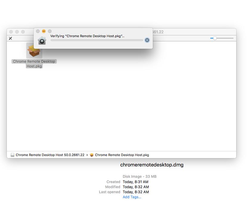 Fixed] Chrome Remote Desktop on El Capitan Hangs on installation