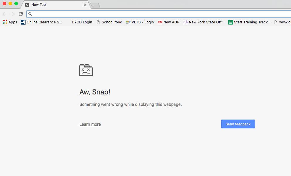 Chrome Crashes on MAC/Tabs Won't Open - Google Chrome Help
