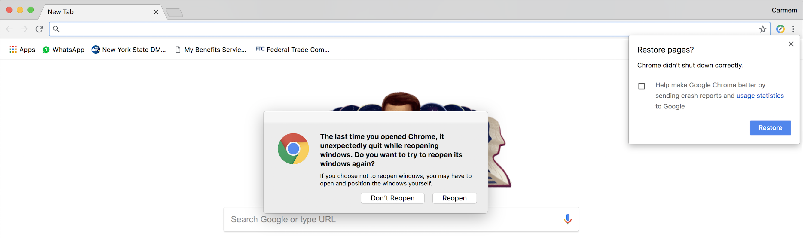 Chrome keeps crashing even after uninstall and reinstall on Mac