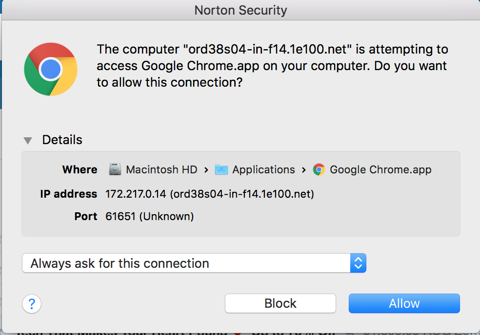 Someone is trying to access your Chrome apps - Google Chrome Help