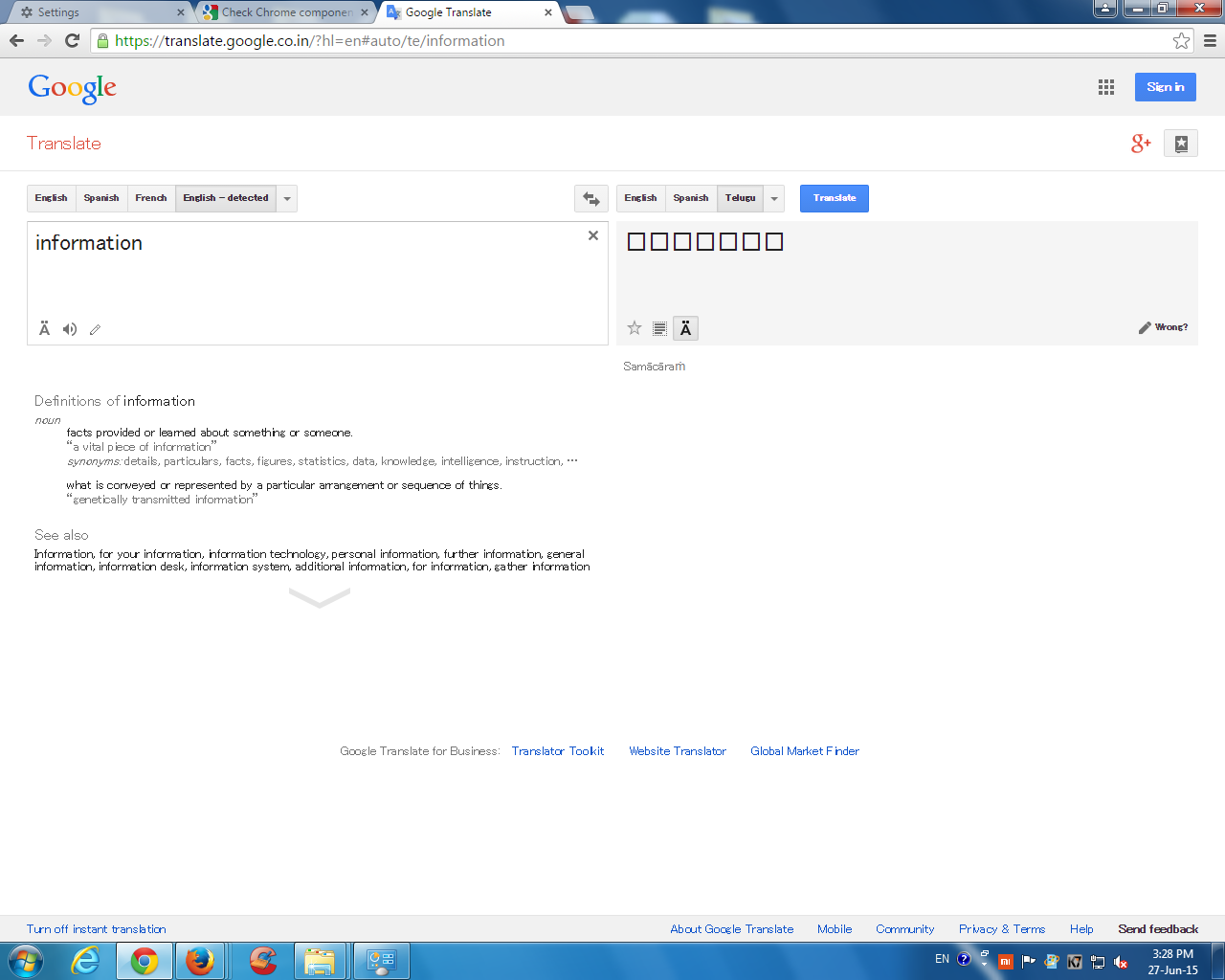 other languages not visible clearly pls rectify - Google Chrome Help