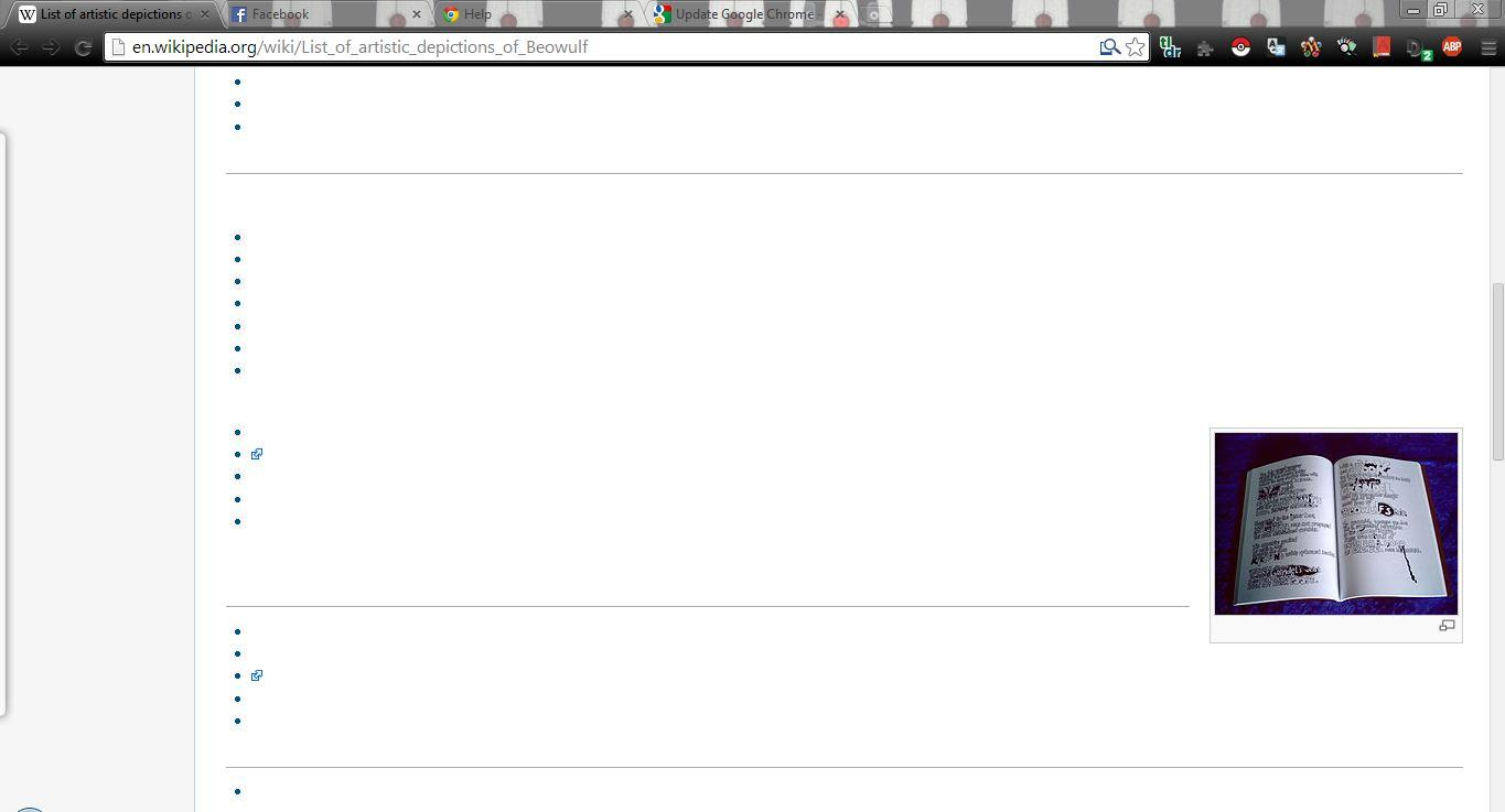 Why doesn't the text load on Wikipedia for my chrome