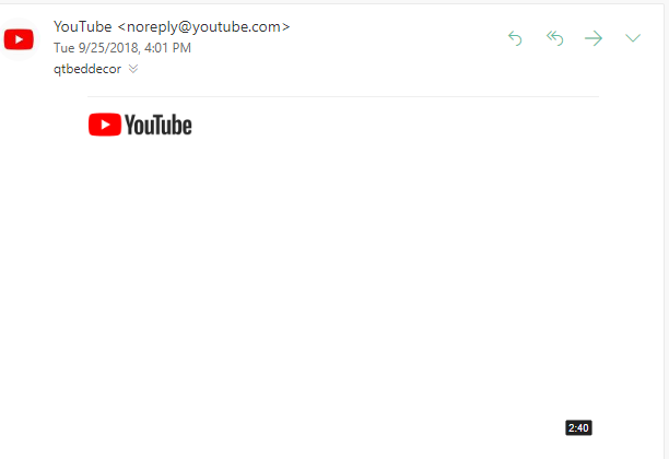 Youtube thumbnail/preview not showing in inbox - Google