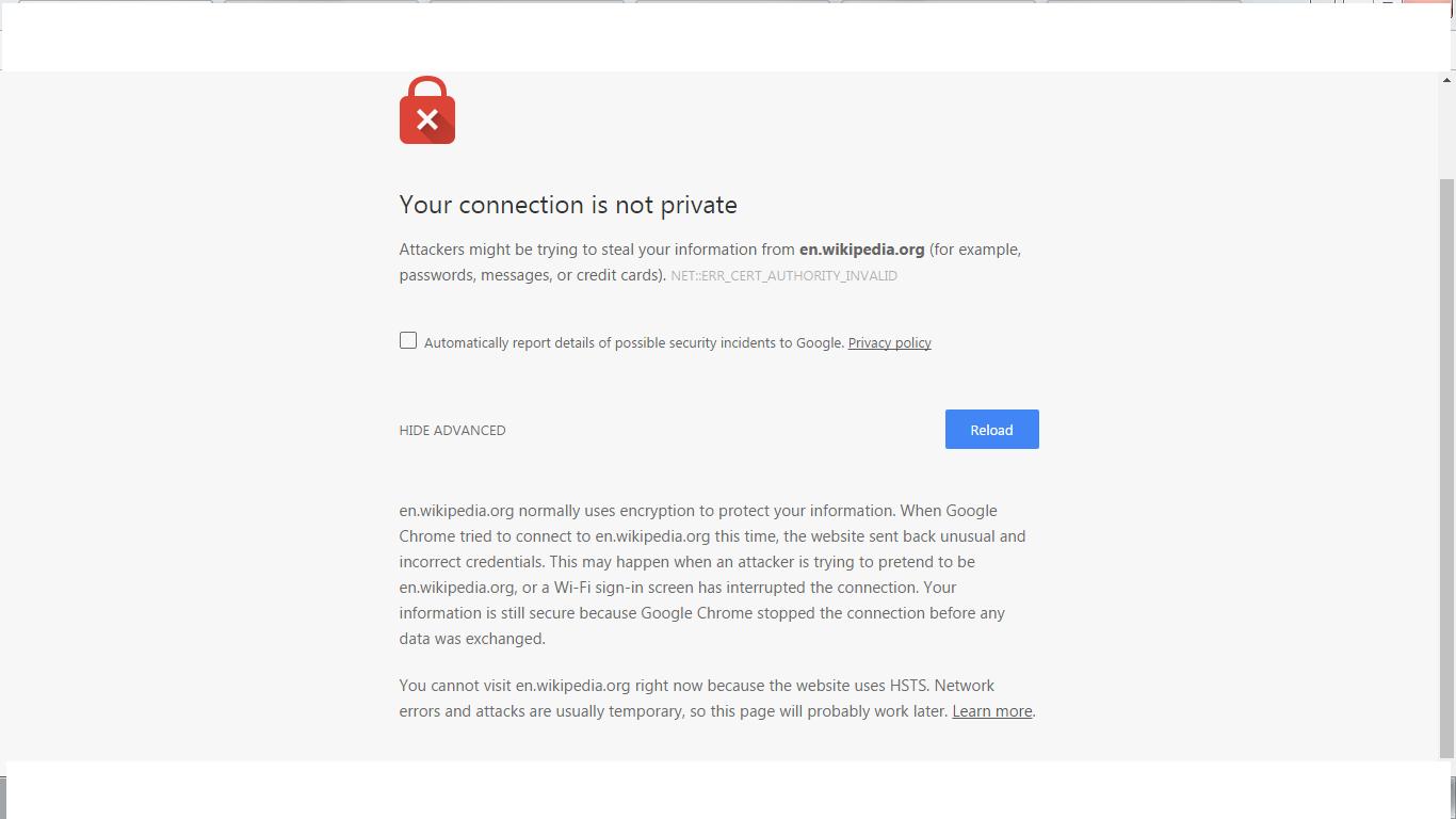 Cant go on Wikipedia on chrome - Google Chrome Help