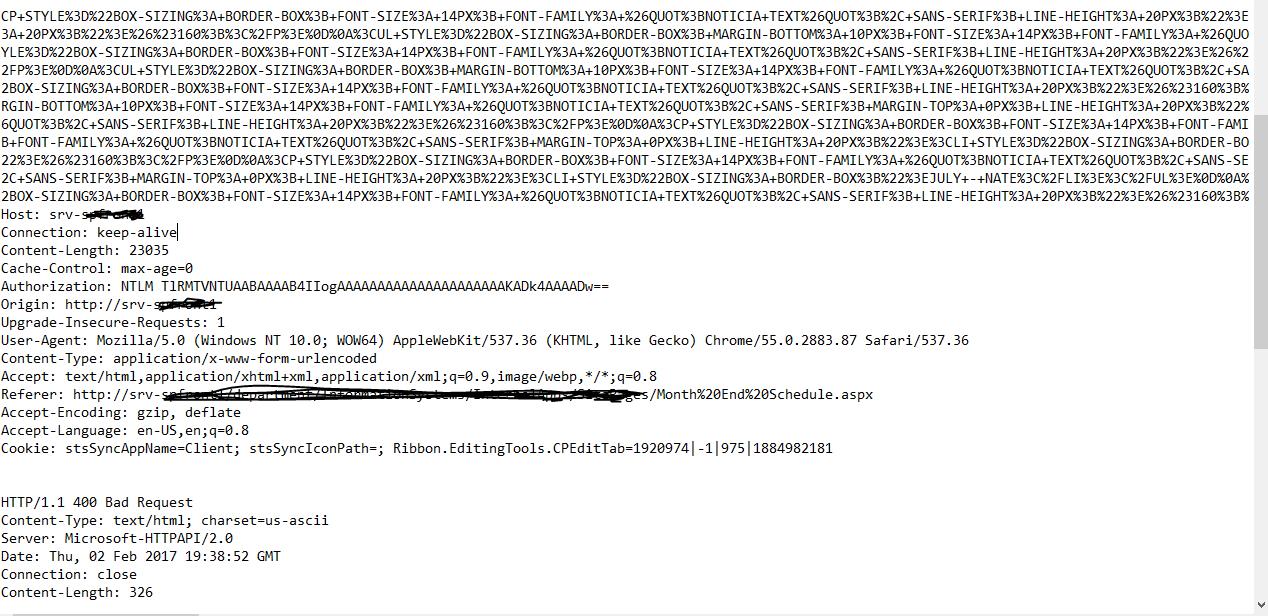 Bad Request - Invalid Verb - Google Chrome Help