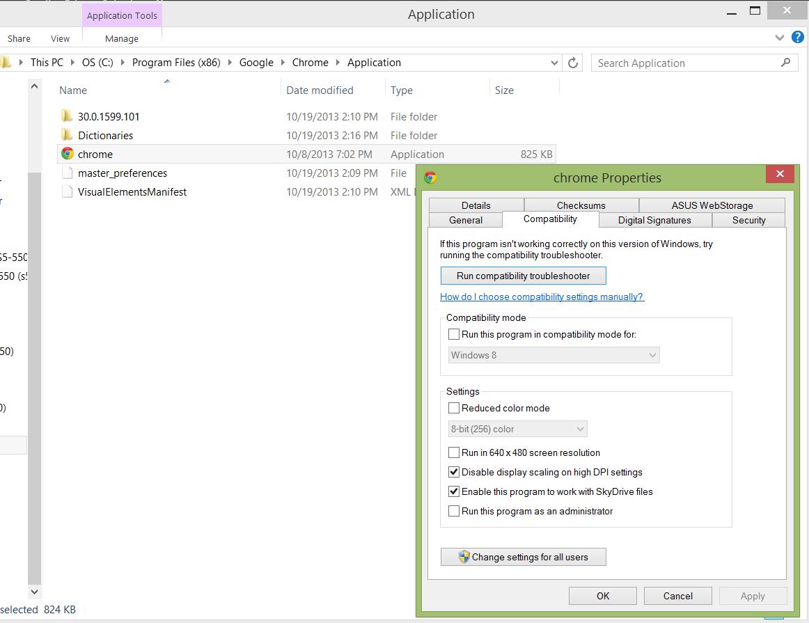 screen resolution problem since update window 8 1 - Google Chrome Help