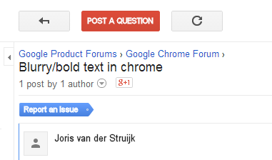 Bold Arial Text Displaying as Fuzzy or Blurry Within Chrome
