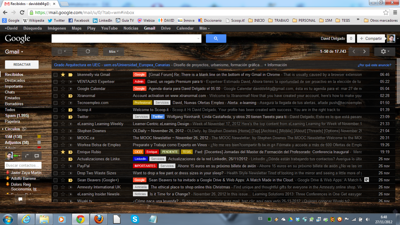 There is a blank line on the bottom of my Gmail in Chrome
