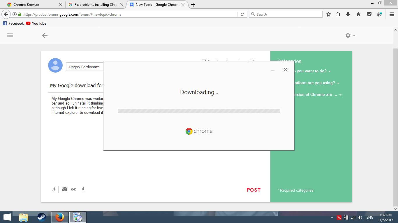 internet explorer not allowing chrome download