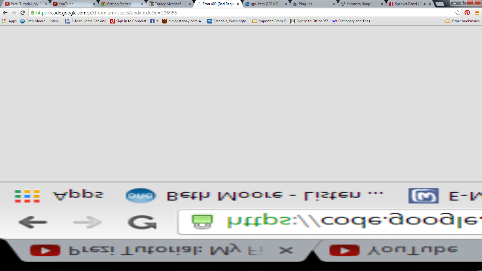 My text in Chrome is like a mirror, it's upside down