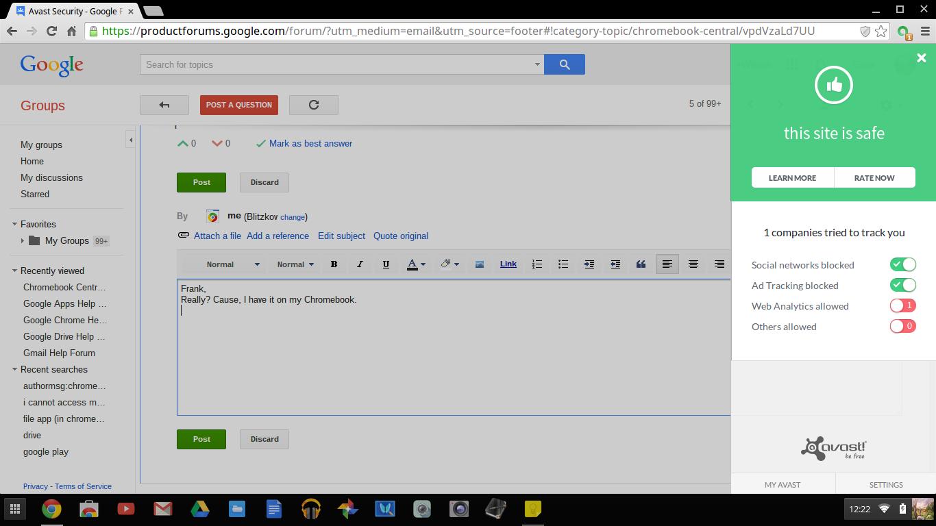 Avast Security - Chromebook Help