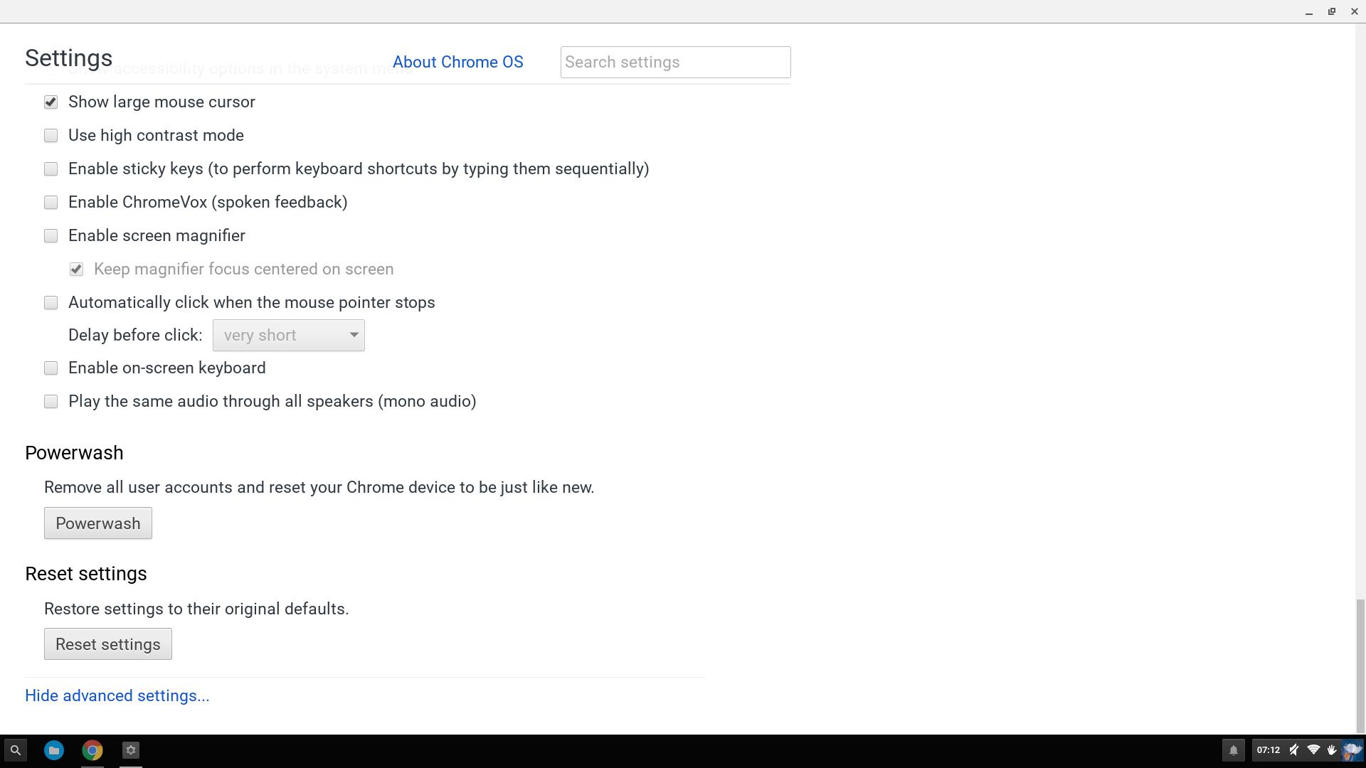 Does Chromebox have Powerwash? - Chromebook Help
