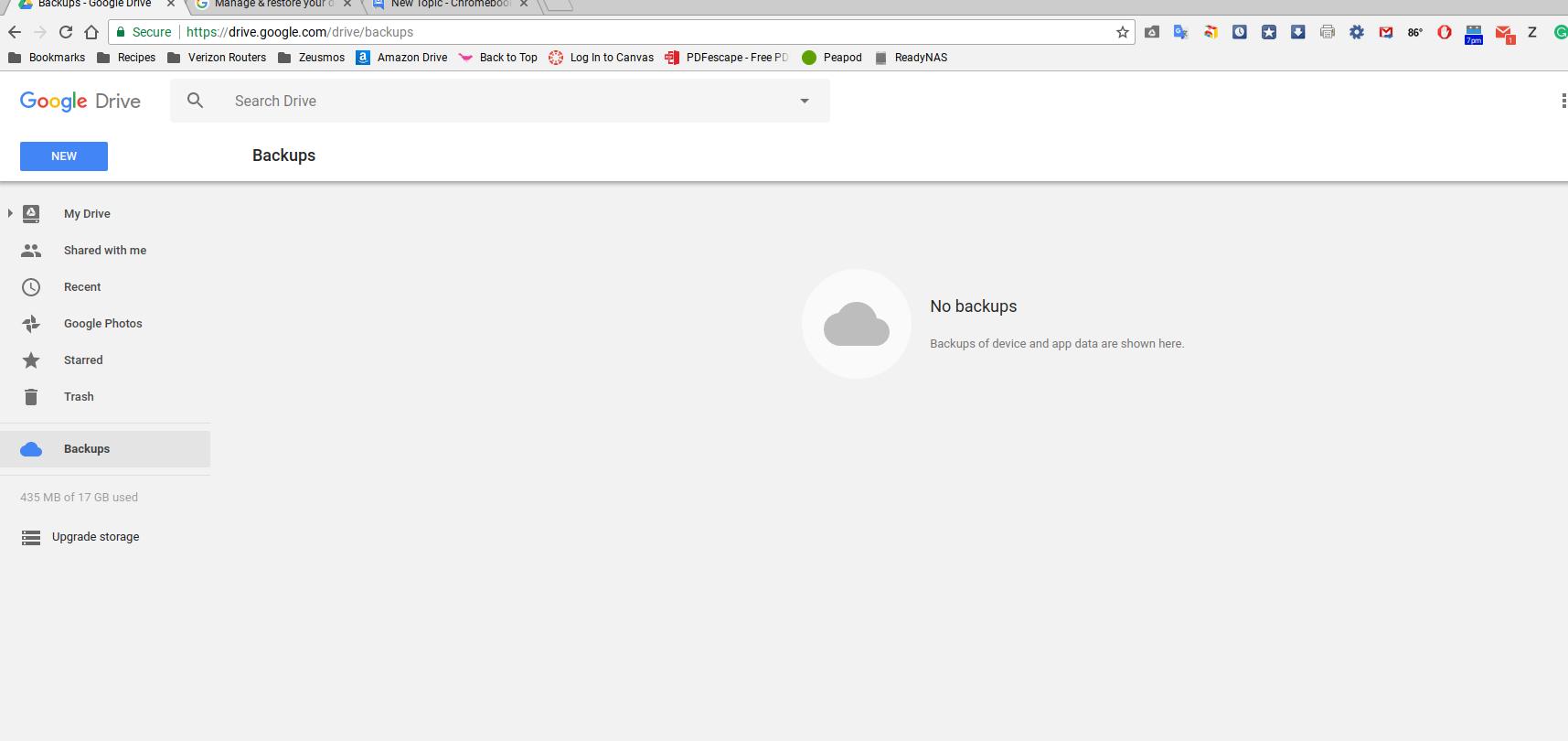backup chromebook to backups in google drive - Chromebook Help