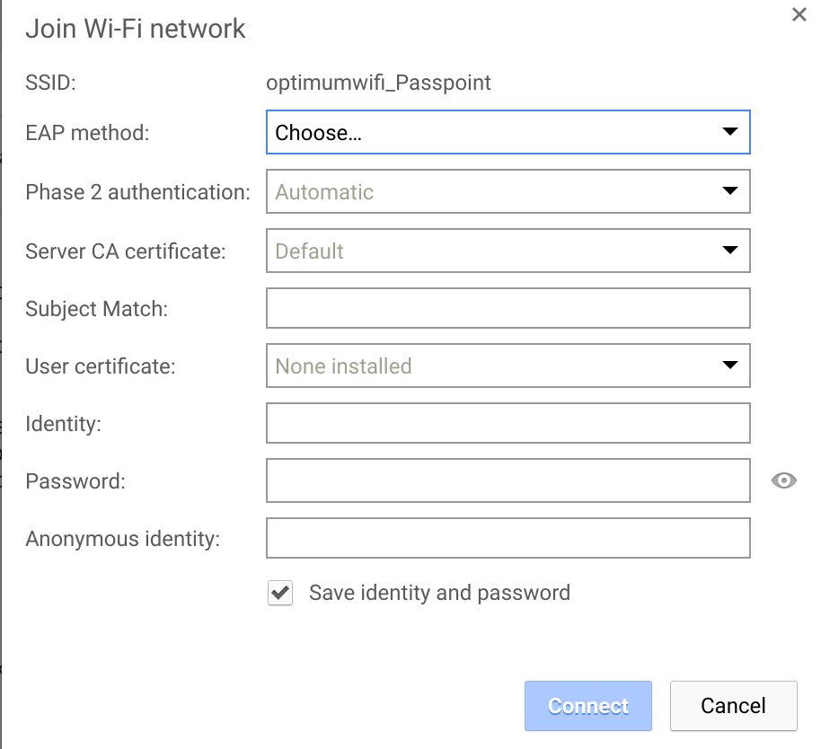 Cannot connect to secure wifi network? - Chromebook Help