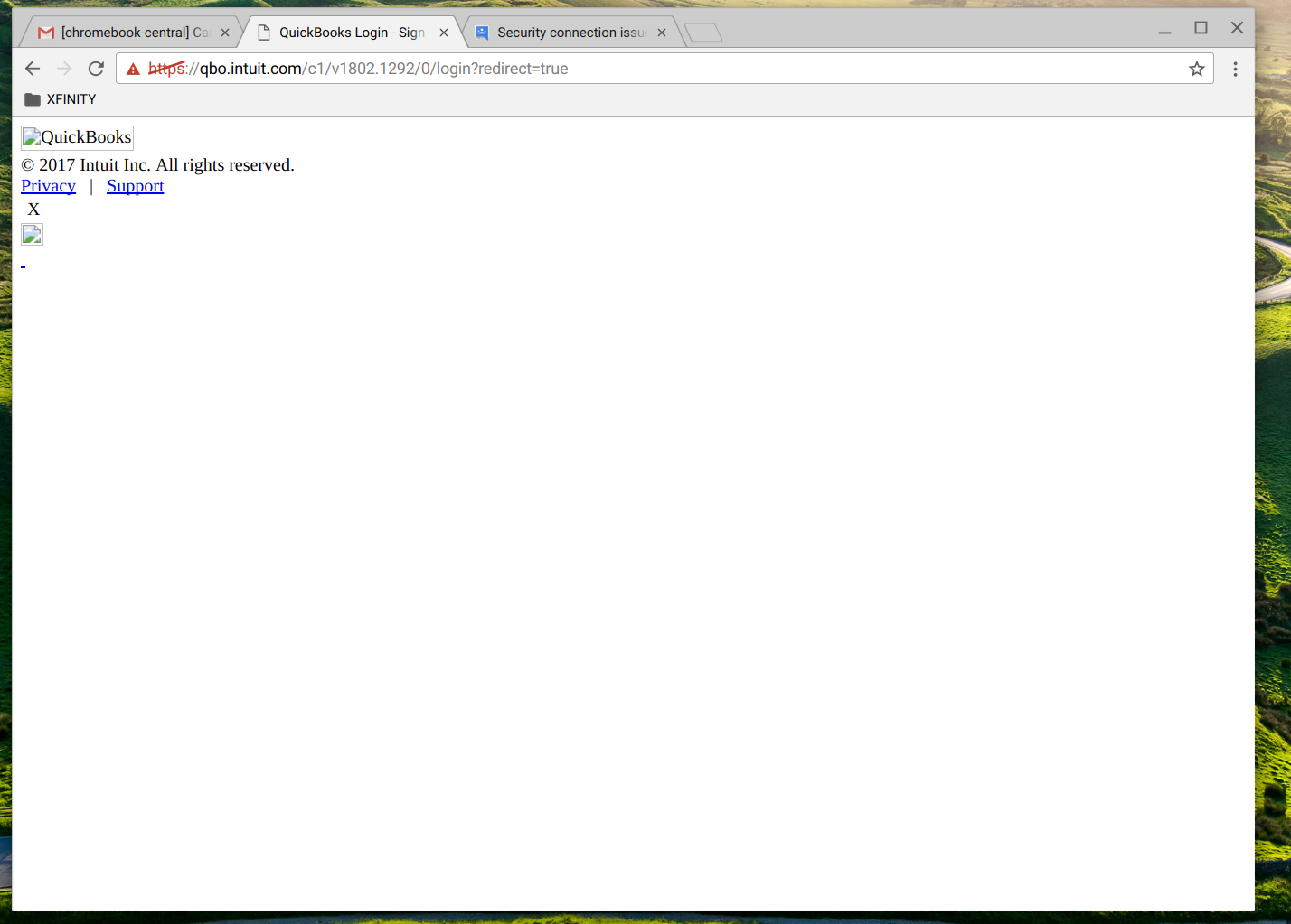 Can't log in to Quickbooks Online on Chromebook - Chromebook