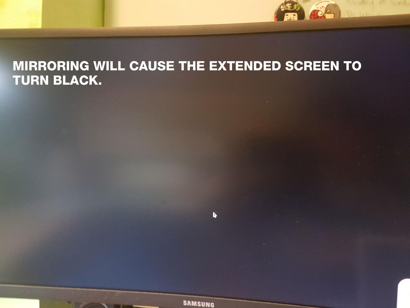 After mirroring my Acer chromebook 13 to a LG TV, my laptop screen