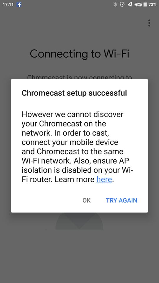 AP isolation modem, cant connect to chromecast - Chromecast Help