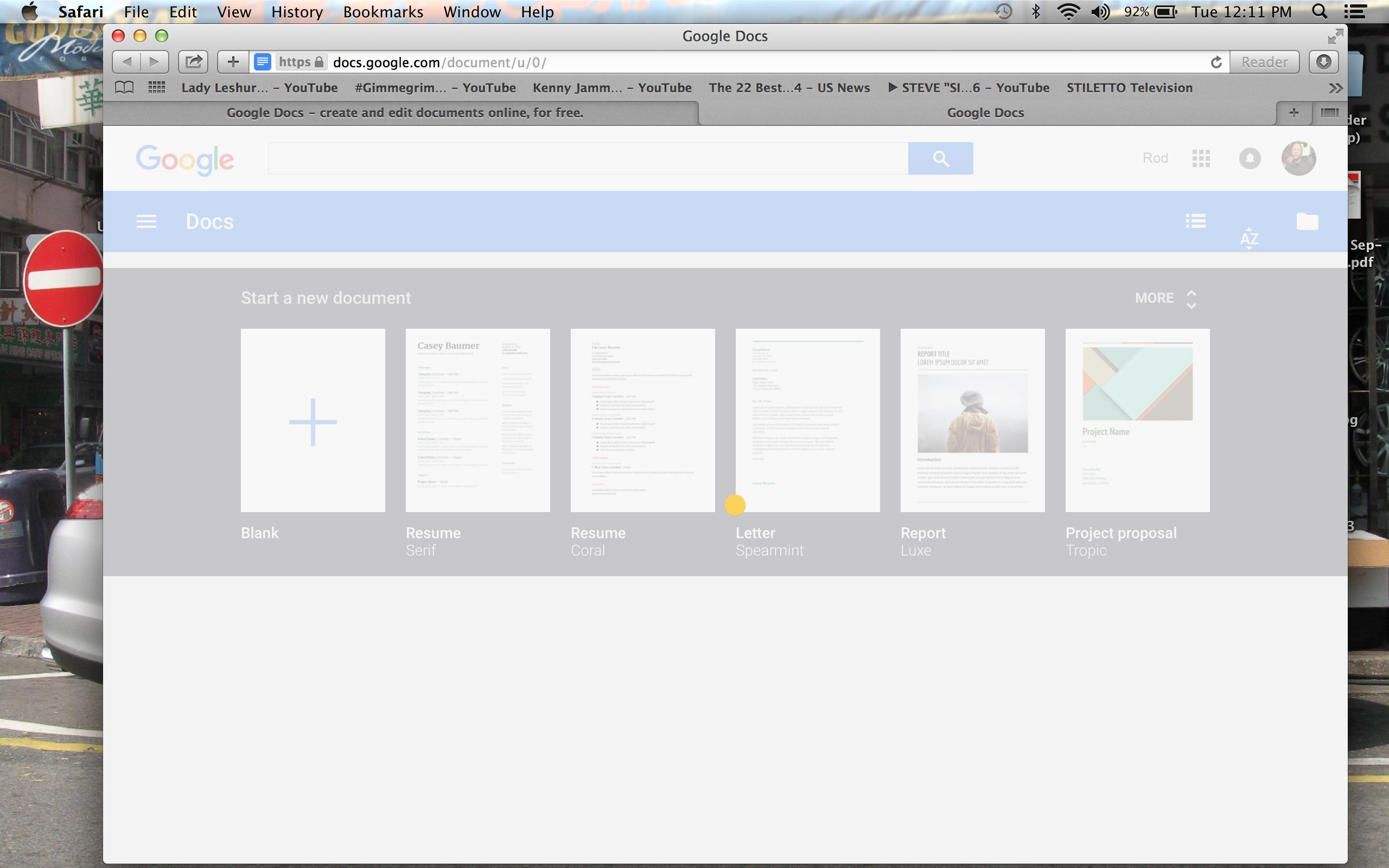Google Docs won't load or let me proceed once i click on