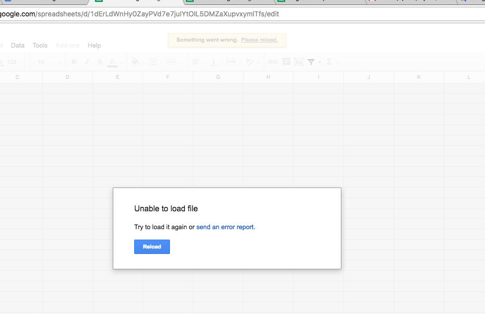 Google docs offline 'reload error' - Docs Editors Help