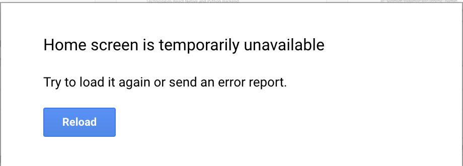 When I open or refresh google docs I get error