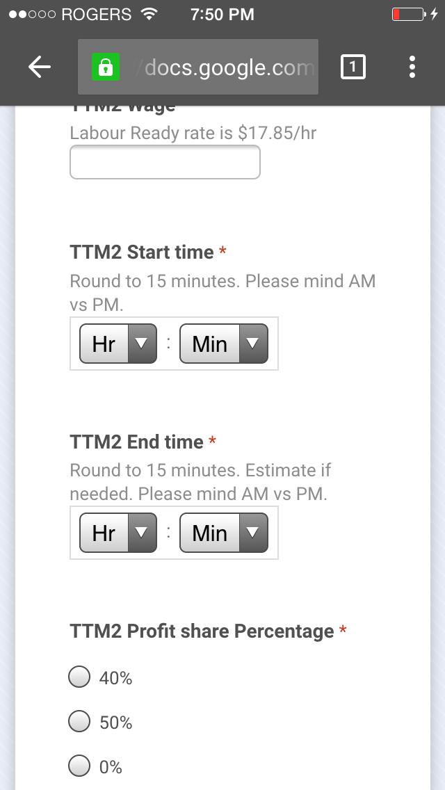 AM/PM Google forms input on iOS (iOS Chrome & Safari) - Docs