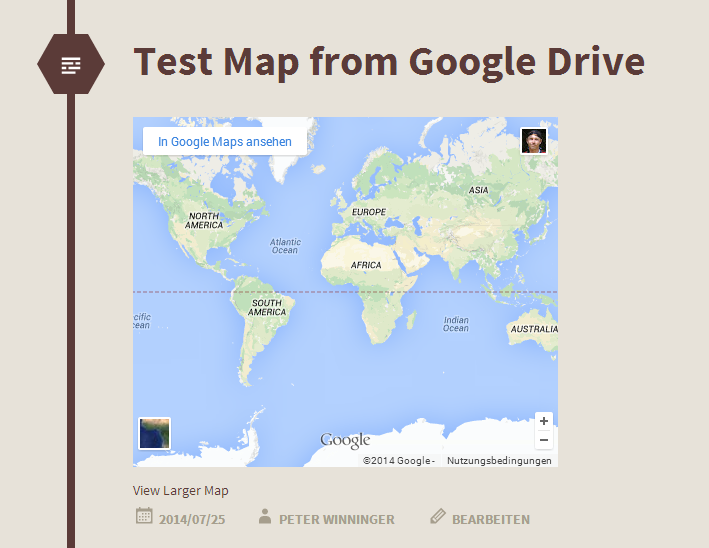Problem when inserting maps from google drive in WordPress