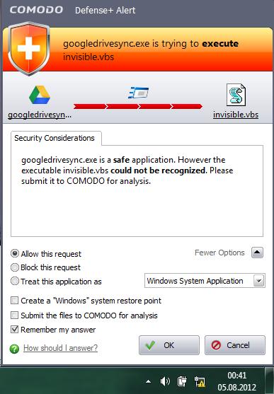 invisible vbs error - Google Drive Help