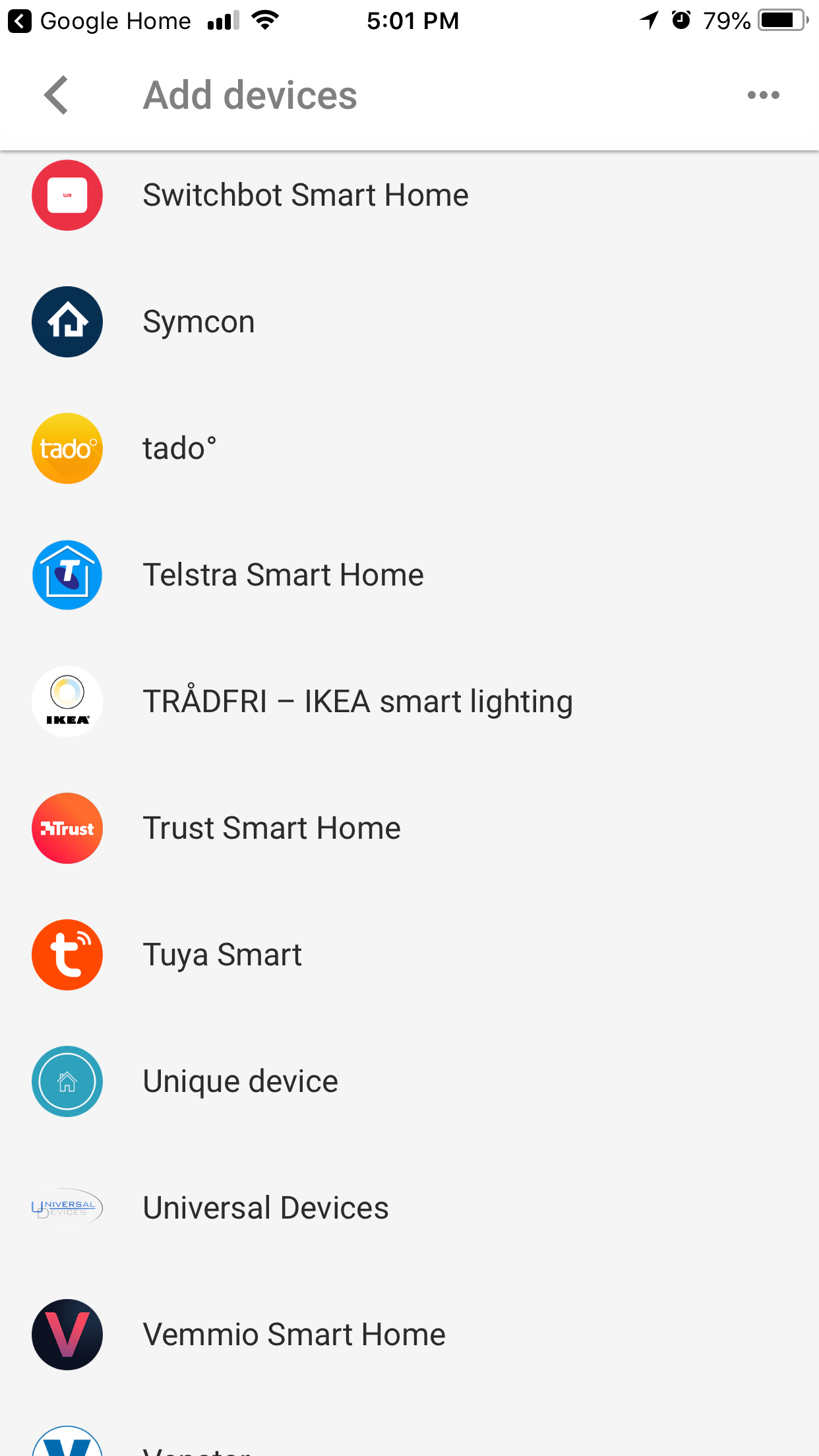 TP-Link Kasa is no longer listed in the Add Device list