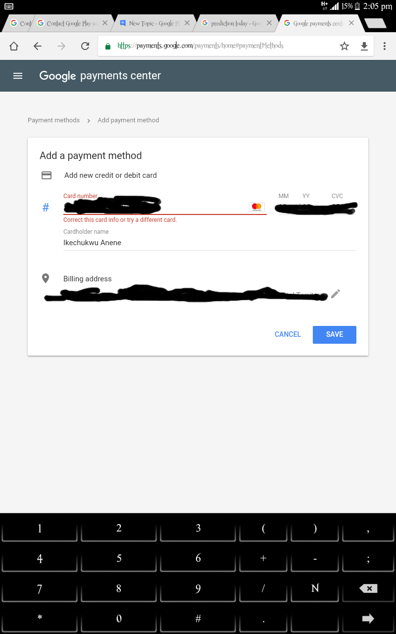 How to fix payment method error - Google Play Help