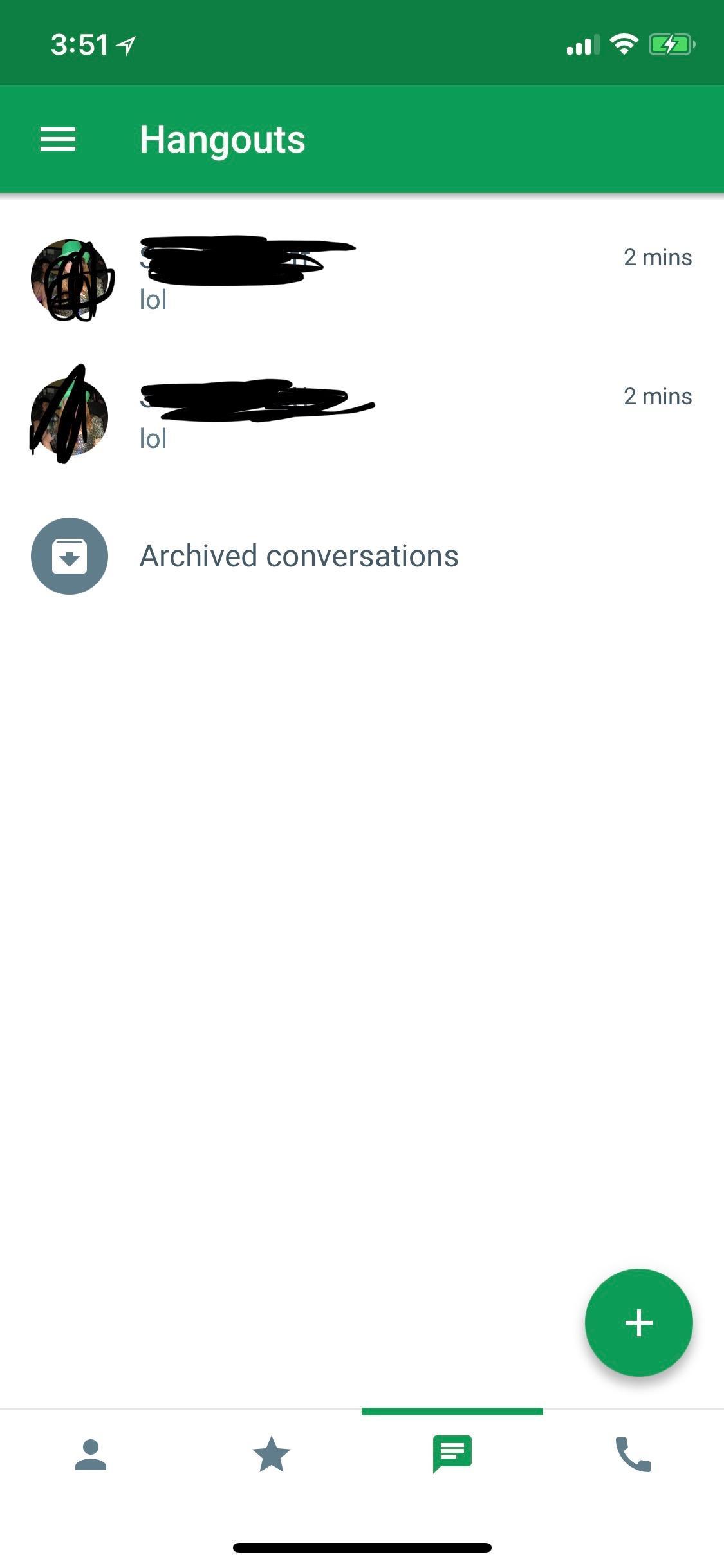 Duplicate conversations in Hangouts on iOS app - Hangouts Help