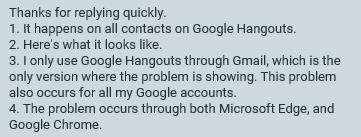 Google Hangouts spontanious font change  - Hangouts Help