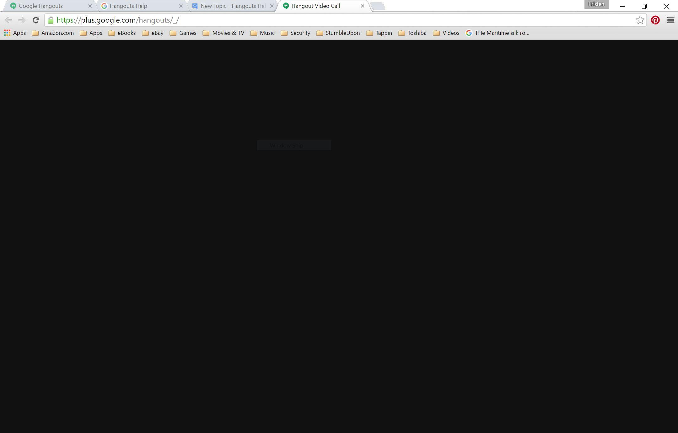 Black screen no connection with video chat on windows 10