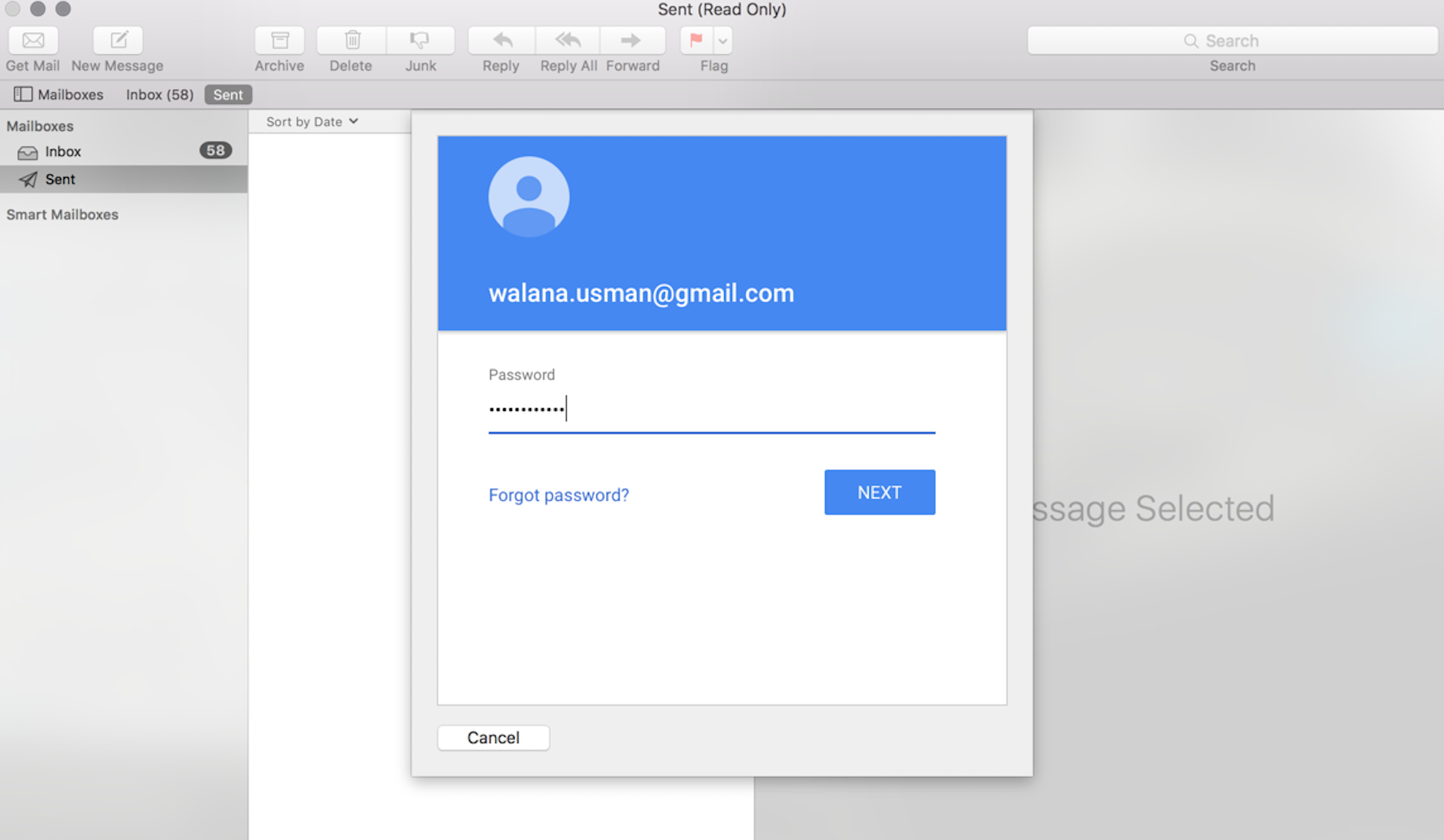 Cant Add Gmail account to Mac OSX Mail app - Gmail Help