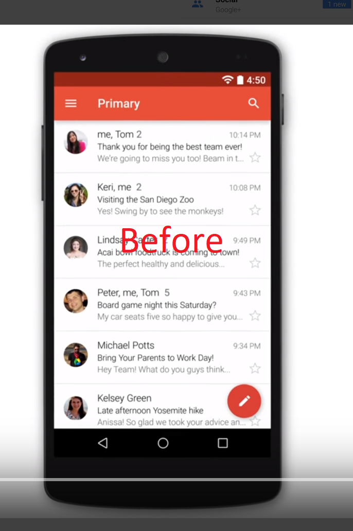 Gmail android app not showing contact profile photo, but