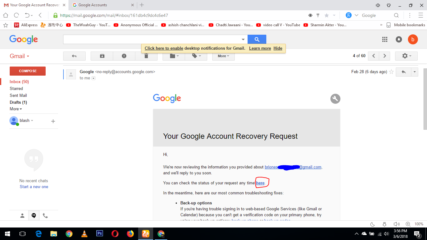 My Google account got hacked but i had recovery email