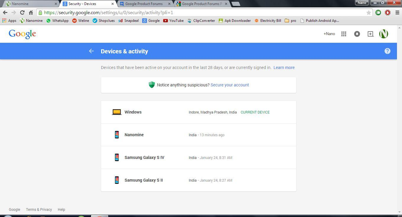 Some Unknown Devices are Connected to my account  Help?? - Gmail Help