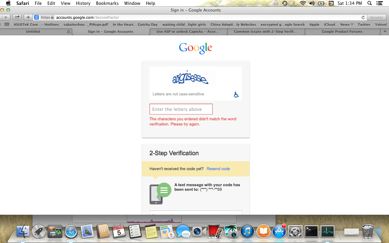 WHY is GOOGLE CAPTCHA NOT WORKING, TWO step verification captcha not