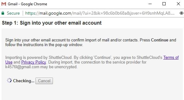 Shuttle Cloud Gmail to Gmail account migration failure - Gmail Help