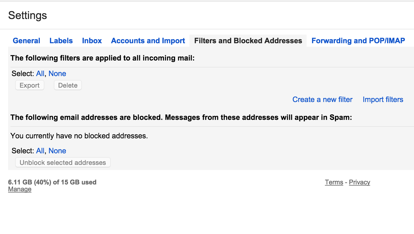 All New Emails from Kickstarter go Straight to Trash - Gmail